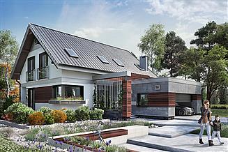 Projekt domu Zenon Alfa - murowana – beton komórkowy
