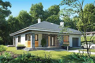 Projekt domu Blanka - murowana – beton komórkowy