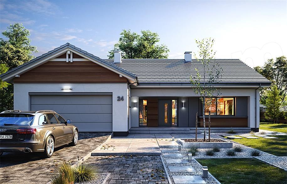 Gotowe Projekty Domów Z Garażem Dwustanowiskowym Gwarancja