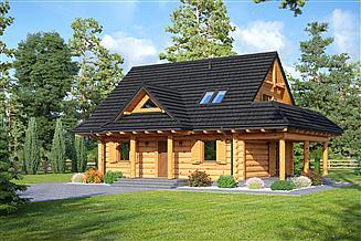 Projekt domu Modrzewo dw