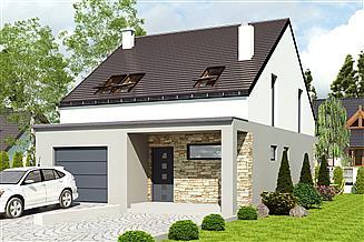 Projekt domu Mazurek z garażem 1-st. [A]
