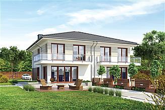 Projekt domu Murator M226a Sprytny - wariant I (dwulokalowy)