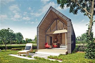 Projekt domu letniskowego Leliwa 01