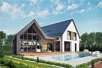 Projekt domu Skośny 01