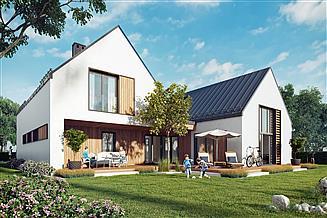 Projekt domu Dwie bryły 01