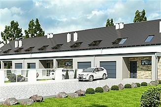 Projekt domu Mazurek z garażem 1-st. szeregówka [A-SZ]