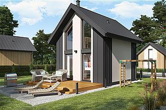 Projekt domu letniskowego Lido C dom mieszkalny, całoroczny z antresolą