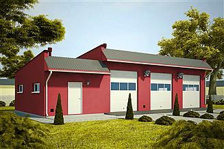 Projekt budynku gospodarczego G349 - Budynek garażowo - gospodarczy
