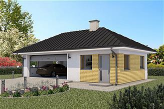 Projekt garażu G55C