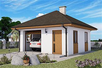 Projekt garażu G2-na zgłoszenie
