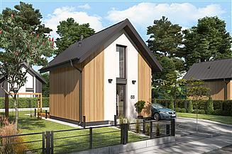Projekt domu letniskowego Lido 3 C dom mieszkalny, całoroczny z antresolą