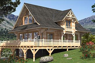 Projekt domu A-150 Dom z bali