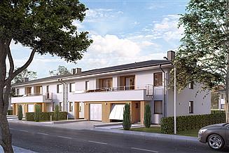Projekt domu Dąb 2 zabudowa szeregowa