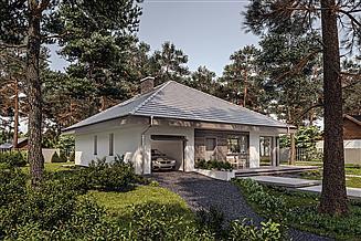 Projekt domu Murator C444w Czterolistna koniczyna - wariant XIX