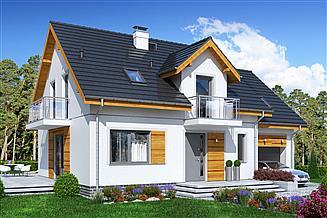 Projekt domu Jaskółka 4 z garażem