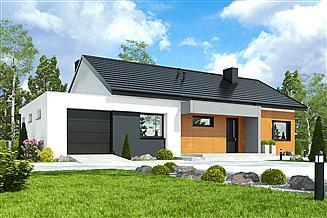Projekt domu Kalikst z garażem 1-st. [A]