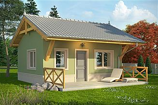 Projekt domu letniskowego Domek 1