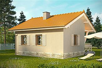 Projekt domu letniskowego Domek 8