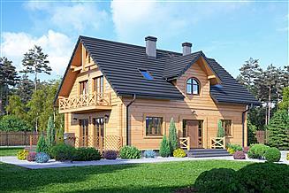 Projekt domu Żarnowiec 5dw