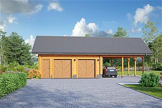 Projekt garażu Garaż GD 4w