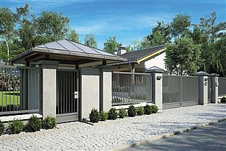 Projekt ogrodzenia Ogrodzenie OG 103