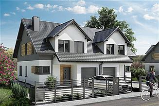 Projekt domu Lila 2 Duo - murowana – beton komórkowy