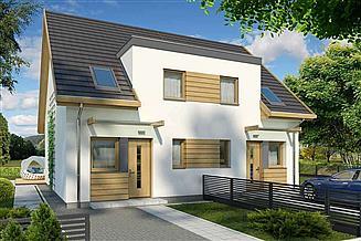 Projekt domu Emilka dwulokalowy PLP