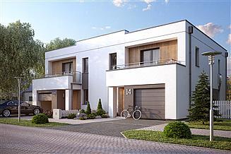 Projekt domu Miodowy zabudowa bliźniacza, 2 segmenty