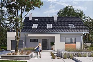 Projekt domu Olaf - murowana – beton komórkowy