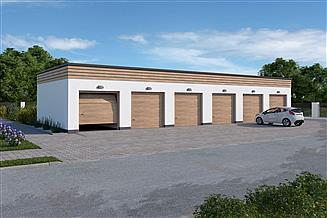 Projekt garażu G341 garaż sześciostanowiskowy