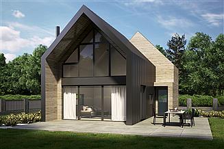 Projekt domu letniskowego House S.2 – drewno HBE