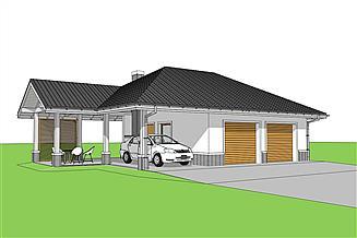 Projekt garażu Garaż G25 w. IV