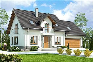 Projekt domu Dom Dla Ciebie 3 z garażem 2-st. [A3]