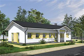 Projekt budynku usługowego Murator UC67b Budynek usługowy