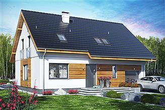 Projekt domu Jaskółka 5 z garażem