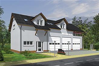 Projekt warsztatu Murator GMC18c Budynek garażowo-magazynowy z częścią mieszkalną