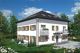 Projekt budynku usługowego Murator UC47b Budynek usługowy (mieszkalny, pensjonat)