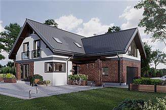 Projekt domu Zenon As - murowana – beton komórkowy