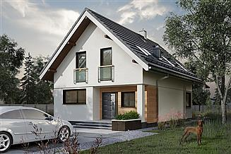 Projekt domu Anatol Solo - murowana – beton komórkowy