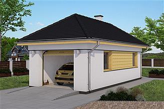 Projekt garażu G3-na zgłoszenie