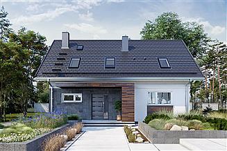 Projekt domu Olaf Solo - murowana – beton komórkowy