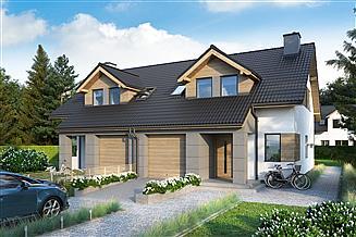 Projekt domu Eco 21 - dwulokalowy