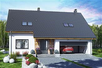 Projekt domu Bocian 4 z garażem 2-st.