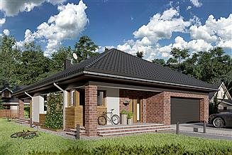 Projekt domu Kordian Rex - murowana – beton komórkowy