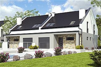 Projekt domu Mazurek III z garażem 1-st. bliźniak [A-BL1]