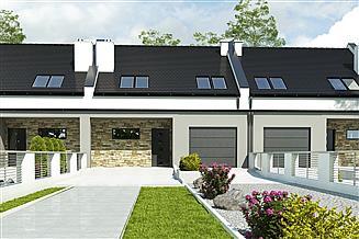 Projekt domu Mazurek III z garażem 1-st. szeregówka [A-SZ]