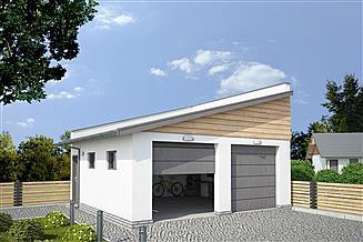Projekt budynku gospodarczego G330I budynek gospodarczy