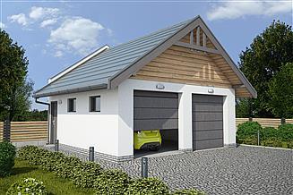 Projekt budynku gospodarczego G330B budynek gospodarczy