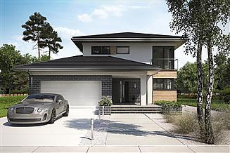 Projekt domu Piryt - murowana – beton komórkowy