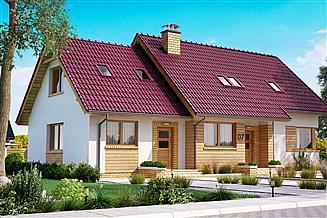 Projekt domu BS-07 wariant 1 dwulokalowy